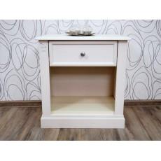 Noční stolek 15665A 61x58x38 cm dřevo masiv dřevolaminát