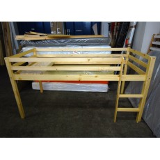 Dětské patrové lůžko IDEA s dřevěným roštem 15746A, 115x208x100 cm, smrkové dřevo masiv