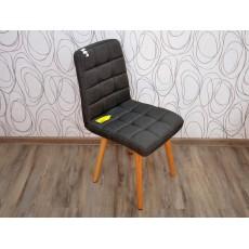 Jídelní židle DOSKIE 15908A 83x42x53 cm textilie dub masiv