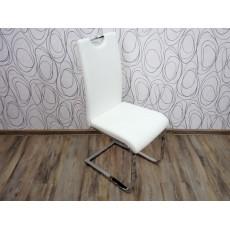 Jídelní židle NEVIA 15917A 101x41x55 cm imitace kůže kov