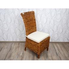 Jídelní židle CARACAS LATIFA CUBU 15958A 105x45x67 cm ratan teak textilie