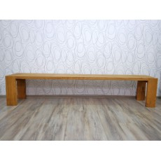Dubová lavice BRUCE 16057A 45x225x39 cm dub masiv