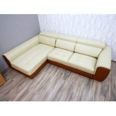 Rohová sedací souprava 16168A 65x270x170 cm imitace kůže