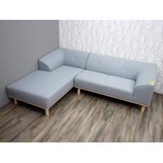 Rohová sedací souprava AYA 16231A 75x240x180 cm textilie barva granit
