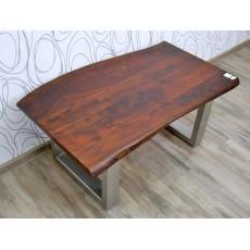 Konferenční stolek 16298A 45x100x60 cm kov teak masiv