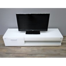 Skříňka pod TV 16222A 35x156x45 cm dřevolaminát barva bílá povrch lesklý