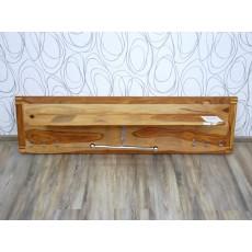Věšák na stěnu TORINO 16375A 41x150x25 cm dřevo palisandr masiv kov