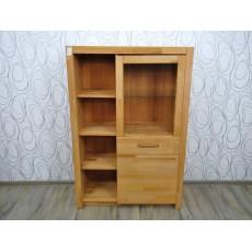 Vitrína knihovna skleník 16384A 146x98x40 cm buk masiv