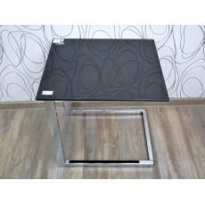 Konferenční stolek 16569A 50x45x51 cm sklo kov