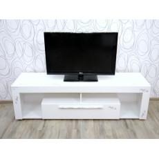 Komoda skříňka pod TV 16619A 45x154x44 cm dřevolaminát barva bílá povrch lesklý