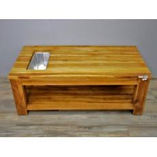Konferenční stolek CARACAS TAPLOK TEAK 16797A 46x122x60 cm teak masiv