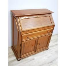 Komoda sekretář replika 16791A 95x86x25/42 cm dřevo dřevolaminát MDF deska dekor ořech