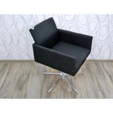 Otočná židle křeslo BAILY 16735A 80x55x58 cm kov textilie