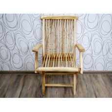 Zahradní židle křeslo skládací SILVA OUDOOR 17014A 91x56x62 cm dřevo masiv