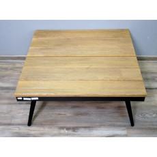 Konferenční stolek 17012A 31x76x76 cm dřevo kov
