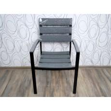 Zahradní židle křeslo KUDO 17013A 89x57x57 cm plast kov