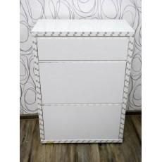 Botník 16746A 102x71x35 cm MDF dřevolaminát barva bílá povrch lesklý