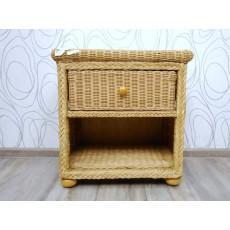 Noční stolek CALAMUS 16577A 58x55x42 cm ratan
