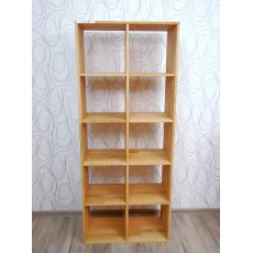 Vitrína regál knihovna 17066A 184x76x35 cm dřevo buk masiv