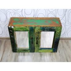 Koupelnová skříňka se zrcadlem BLUE LAGOON 16971A 50x70x23 cm dřevo mango masiv