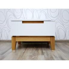 Luxusní noční stolek DAHLIA 17194A 35x50x40 cm dřevolaminát dub masiv