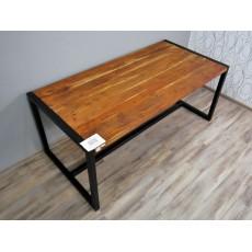 Jídelní stůl OKLAHOMA 17297A 77x185x90 cm dřevo akácie kov
