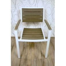 Zahradní křesílko židle 11601A 84x56x48 cm plast kov
