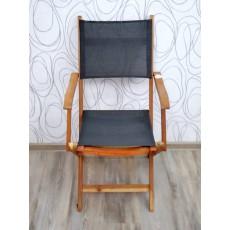 Zahradní židle AKA NATURE I 17170A 91x49x60 cm akácie textilie