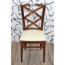 Kuchyňská židle 8299A hnědá 92x34x44 cm dřevo koženka
