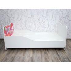 Dětská postel vč. roštu a matrace 17459A 37x145x75 cm  dřevolaminát PUR pěna odepínací potah