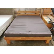 Manželská postel s matrací a rošty ARESWOOD 17469A 85x165x205 cm dřevo dub masiv