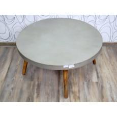 Konferenční stolek GLADSTONE 17518A 41x82 cm beton dřevo pinie