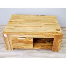 Konferenční stolek se šuplíkem STARK 17490A 45x110x80 cm palisandr masiv barva teak