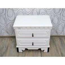 Noční stolek BYZANZ I 17635A 56x60x40 cm kaučukovník MDF kov