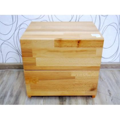 Noční stolek 17527A 37x40x33 cm dřevo masiv