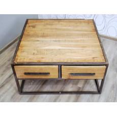Konferenční stolek OKLAHOMA 17726A 40x80x80 cm akácie masiv kov