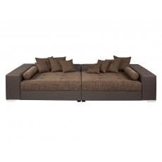 Sedací souprava sofa dvoudílná 18886A 57x300x152 cm textilie imitace kůže