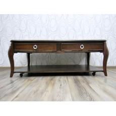 Konferenční stolek se šuplíkem na kolečkách  replika 18913A
