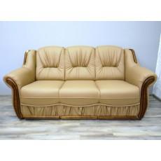 Sofa trojkřeslo 18950A 95x185x95 cm imitace kůže dřevo