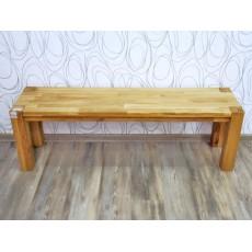 Dřevěná lavice 19058A 46x140x35 cm buk masiv