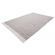 Koberec NATURA 19005A 230x160x1,4cm viskoza bavlna vlna barva šedá
