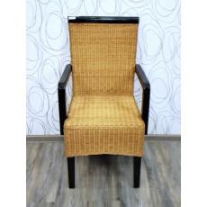 Jídelní židle s područkami ROMA II 19287A 97x52x56 cm dřevo pinie ratan