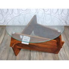 Konferenční stolek HADES 16978A 47x90 cm palisandr masiv sklo