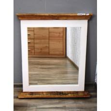 Koupelnové zrcadlo s poličkou NEWHAVEN 19631A 80x70x13 cm dřevo mango masiv