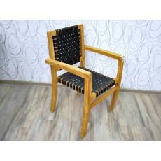 Zahradní židle CARACAS black 19203A 87x54x58 cm teakové dřevo polyratan