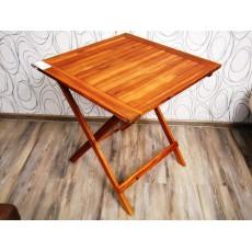 Zahradní skládací stolek MIMO 19540A 74x70x70 cm dřevo akácie