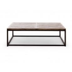 Konferenční stolek BARKLEY I 19877A 38x90x90 cm dřevo kov