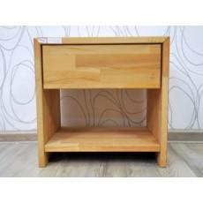 Noční stolek ARESWOOD 17560A 58x33x51 cm buk masiv